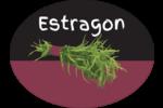 Estragon, épices et fines herbes sur tableau noir Étiquettes ovales - gabarit prédéfini. <br/>Utilisez notre logiciel Avery Design & Print Online pour personnaliser facilement la conception.