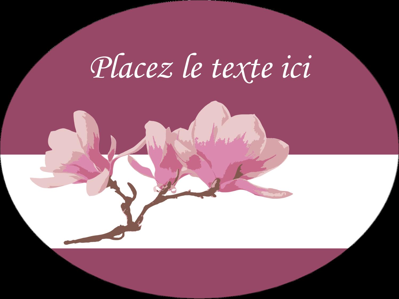 "3"" x 4"" Étiquettes ovales - Magnolia printanier"