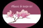 Magnolia printanier Étiquettes ovales - gabarit prédéfini. <br/>Utilisez notre logiciel Avery Design & Print Online pour personnaliser facilement la conception.