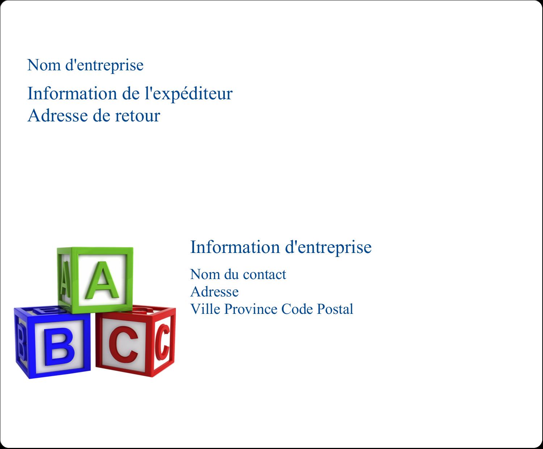"""3⅓"""" x 4"""" Étiquettes d'expédition - Blocs pour enfants"""