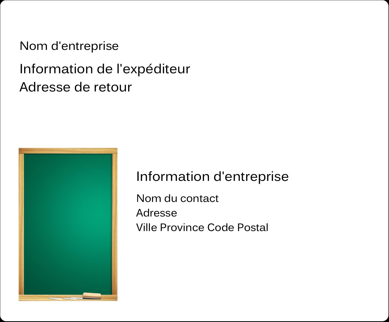 """3⅓"""" x 4"""" Étiquettes d'expédition - Tableau vert"""