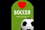 Amour du soccer Étiquettes rectangulaires - gabarit prédéfini. <br/>Utilisez notre logiciel Avery Design & Print Online pour personnaliser facilement la conception.