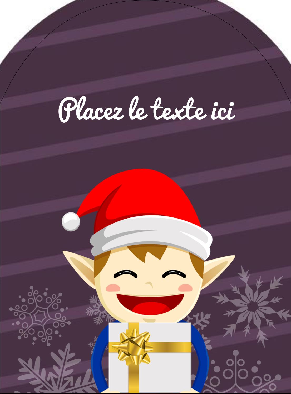 Petit Lutin de Noël Étiquettes arrondies - gabarit prédéfini. <br/>Utilisez notre logiciel Avery Design & Print Online pour personnaliser facilement la conception.