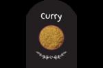 Cari, épices et fines herbes sur tableau noir Étiquettes rectangulaires - gabarit prédéfini. <br/>Utilisez notre logiciel Avery Design & Print Online pour personnaliser facilement la conception.