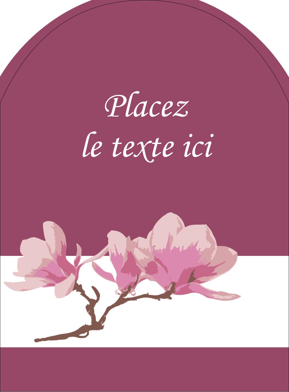 """4¾"""" x 3½"""" Étiquettes arrondies - Magnolia printanier"""