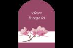 Magnolia printanier Étiquettes arrondies - gabarit prédéfini. <br/>Utilisez notre logiciel Avery Design & Print Online pour personnaliser facilement la conception.