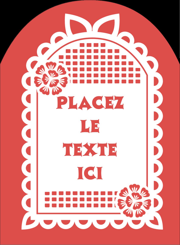 """4¾"""" x 3½"""" Étiquettes rectangulaires - Confettis de Cinco de Mayo"""