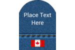 Spruce up celebrations with a rugged jean background and an embroidered Canadian flag.