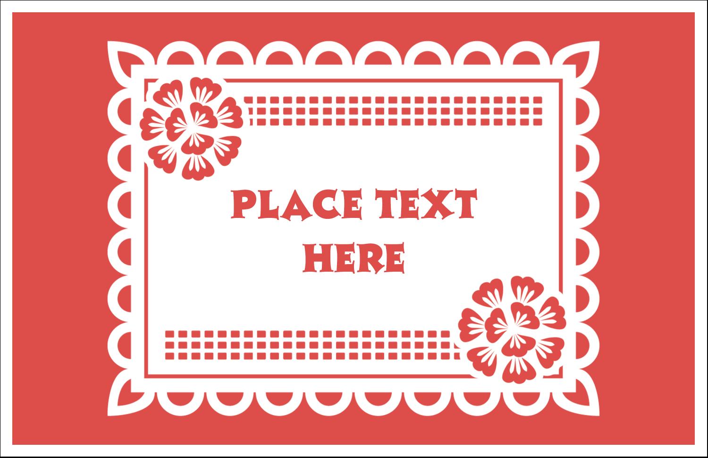 """5½"""" x 8½"""" Greeting Card - Cinco de Mayo Papel Picado"""