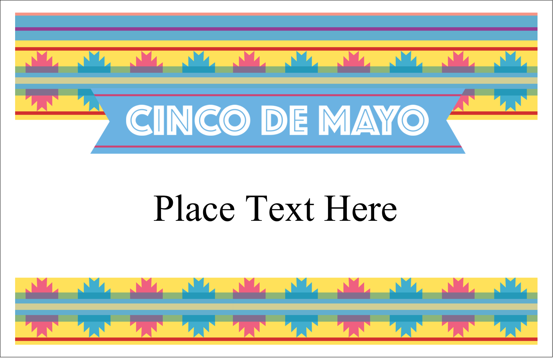 "5½"" x 8½"" Greeting Card - Cinco de Mayo Serape"