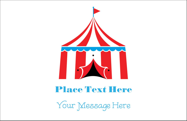 "5½"" x 8½"" Greeting Card - Circus Tent"