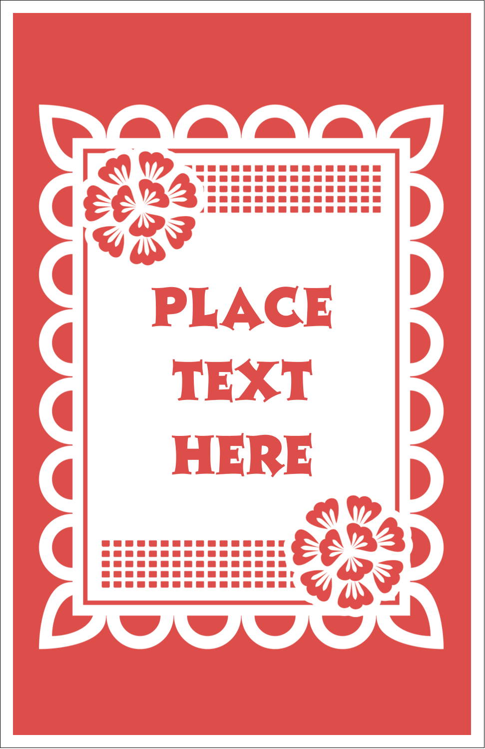 "5"" x 8½"" Half Fold Card - Cinco de Mayo Papel Picado"