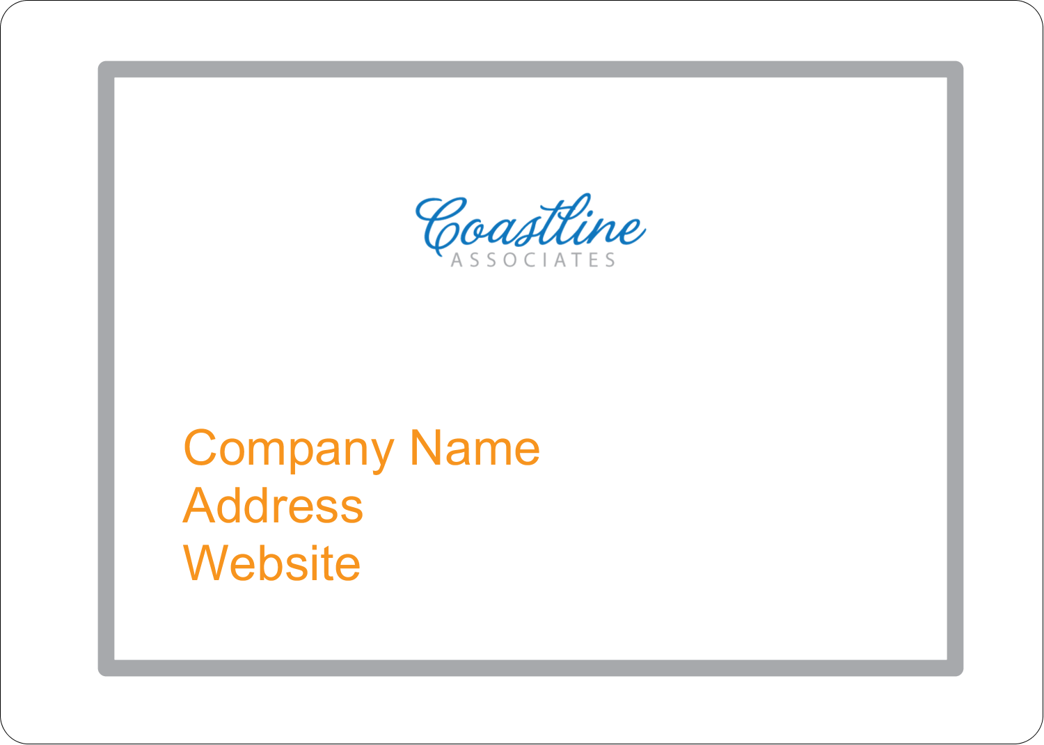 "1¾"" x 1¼"" ID Label - Coastline Orange"