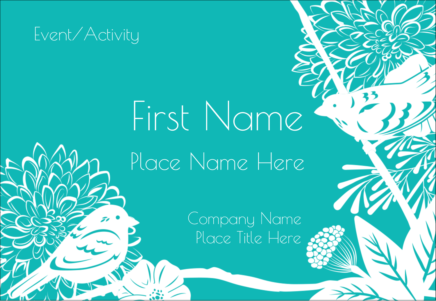 """3⅜"""" x 2⅓"""" Name Badge - Signs of Spring"""