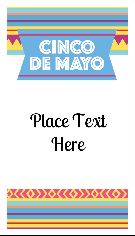 "3½"" x 2"" Business Card - Cinco de Mayo Serape"