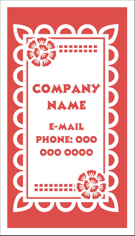 "3½"" x 2"" Business Card - Cinco de Mayo Papel Picado"