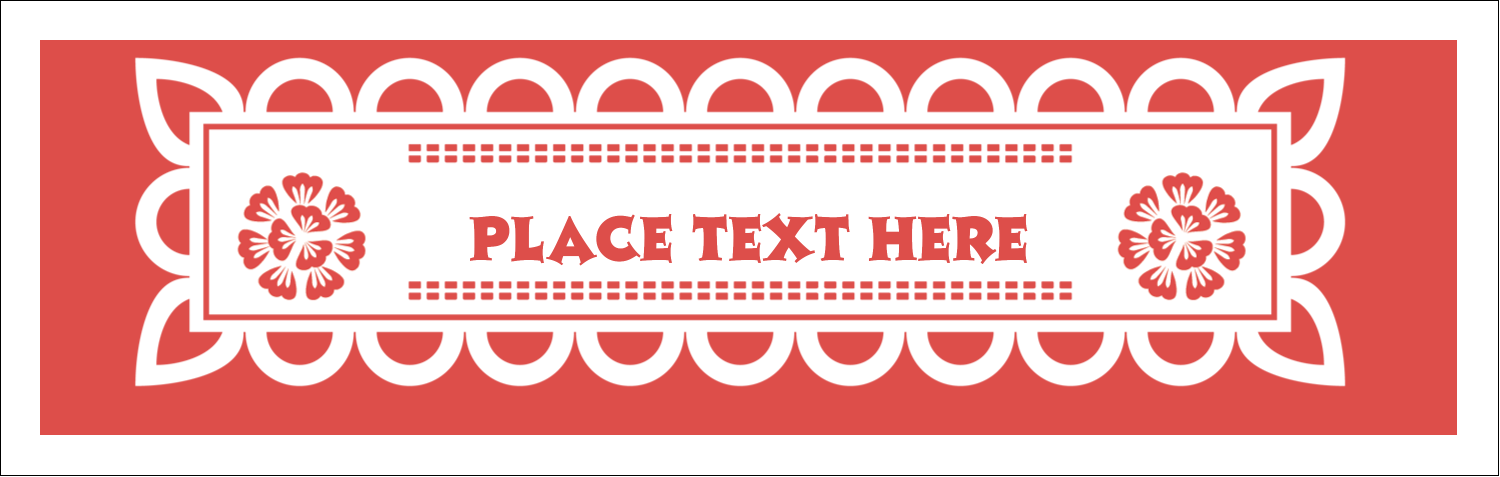 picture relating to Papel Picado Template Printable titled Cinco de Mayo Papel Picado predesigned template for your