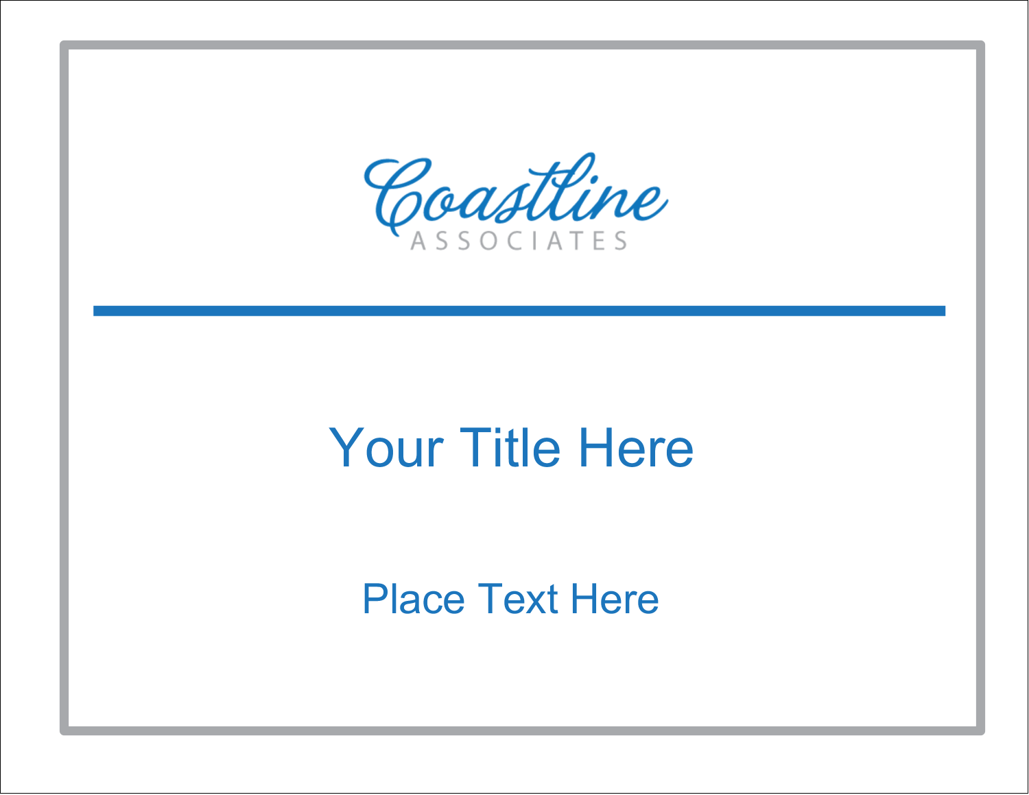 "11"" x 8½"" ID Label - Coastline Blue"