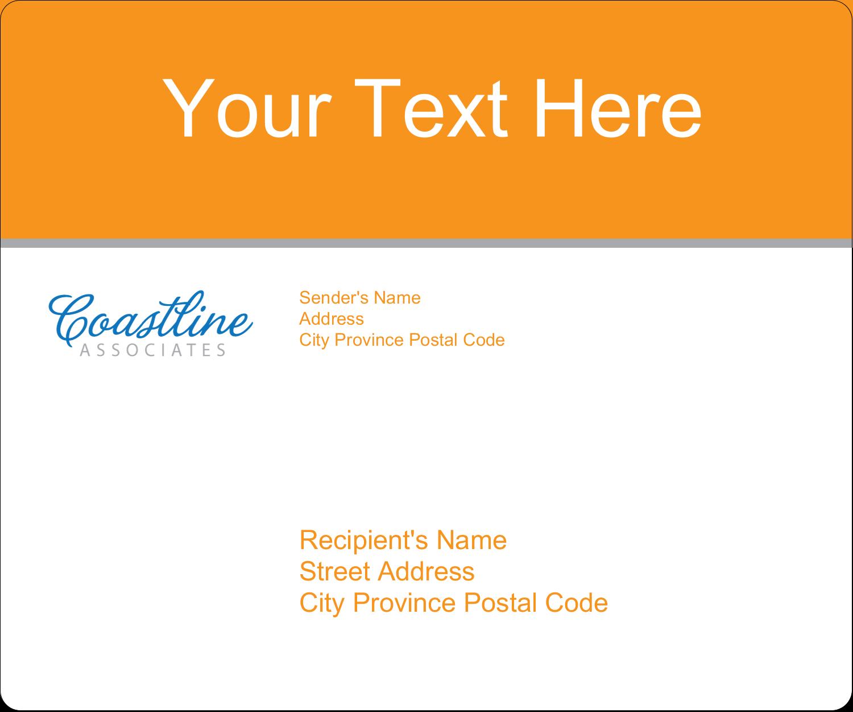 "3⅓"" x 4"" Shipping Label - Coastline Orange"