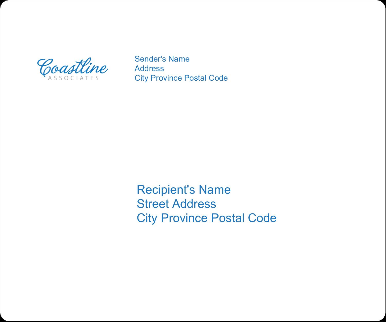 "3⅓"" x 4"" Shipping Label - Coastline Blue"