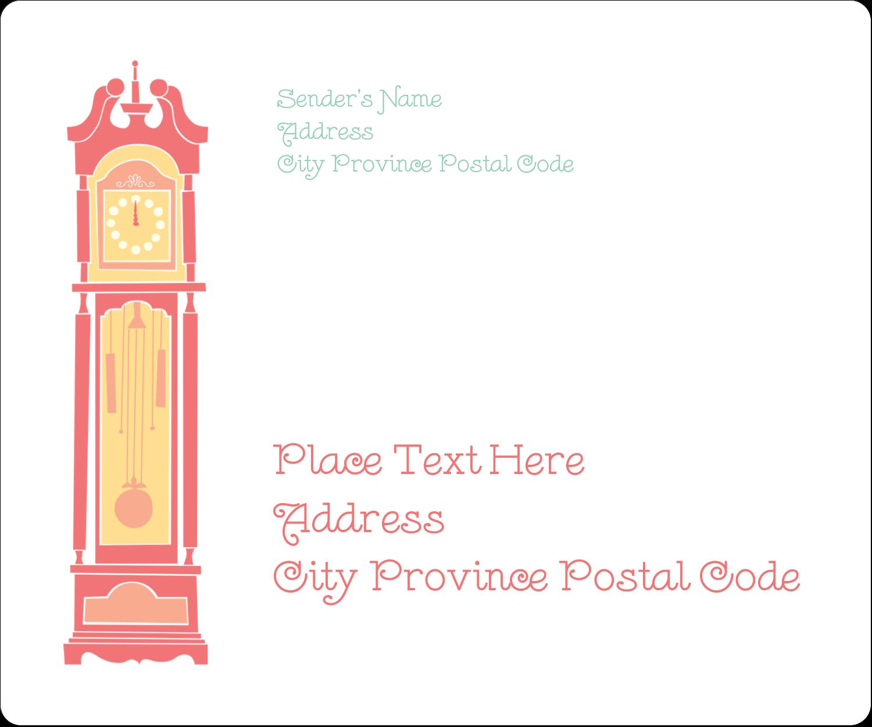 """3⅓"""" x 4"""" Shipping Label - Clocks"""