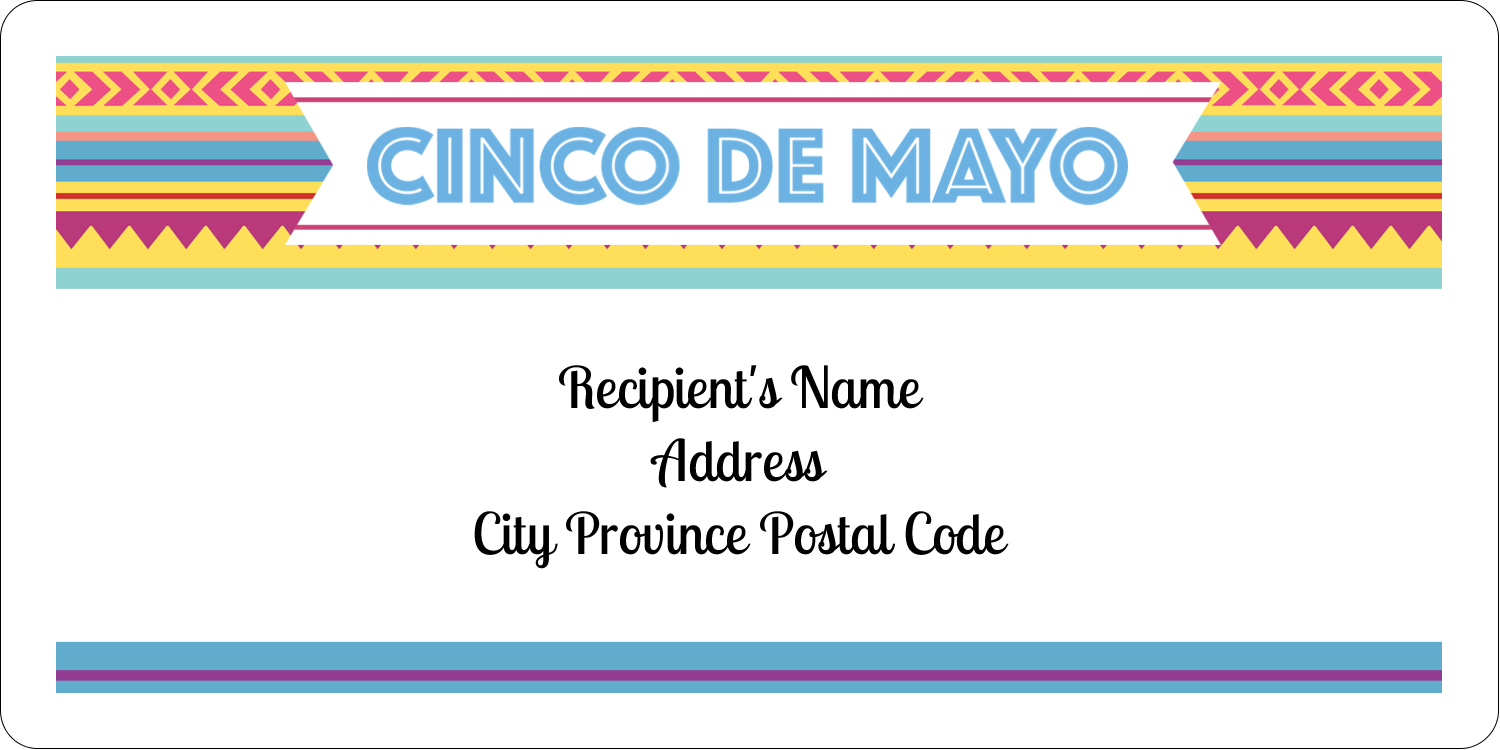 "2"" x 4"" Shipping Label - Cinco de Mayo Serape"