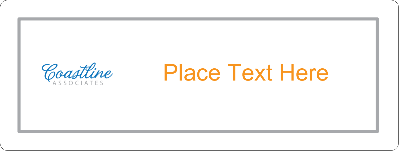"2⅝"" x 1"" Fluorescent Label - Coastline Orange"