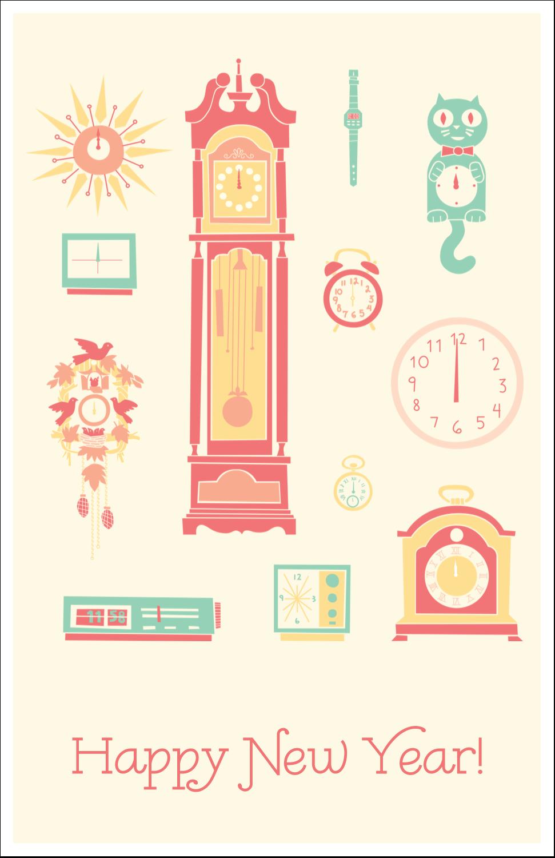 "5"" x 8½"" Half Fold Card - Clocks"