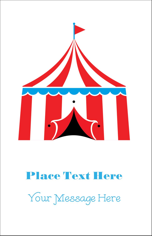 """5"""" x 8½"""" Half Fold Card - Circus Tent"""