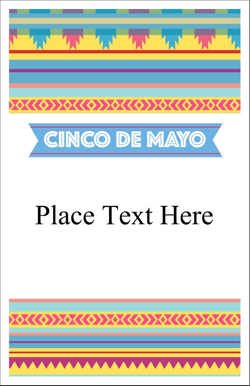 "5"" x 8½"" Half Fold Card - Cinco de Mayo Serape"