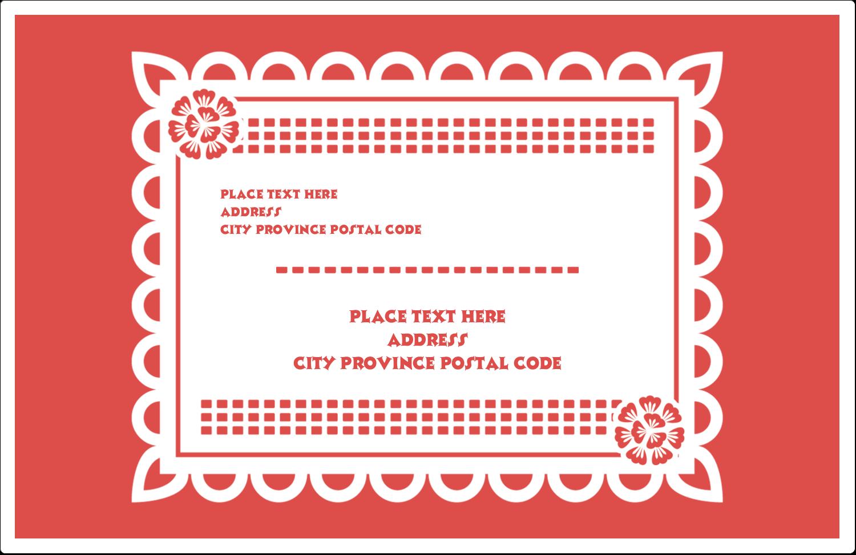 """5½"""" x 8½"""" Shipping Label - Cinco de Mayo Papel Picado"""