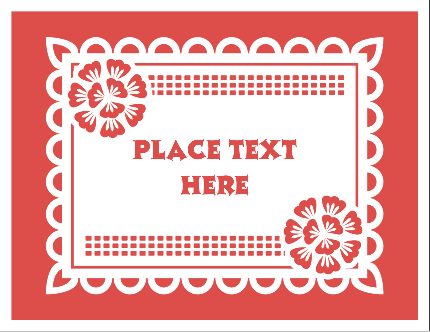 "5½"" x 4¼"" Note Card - Cinco de Mayo Papel Picado"