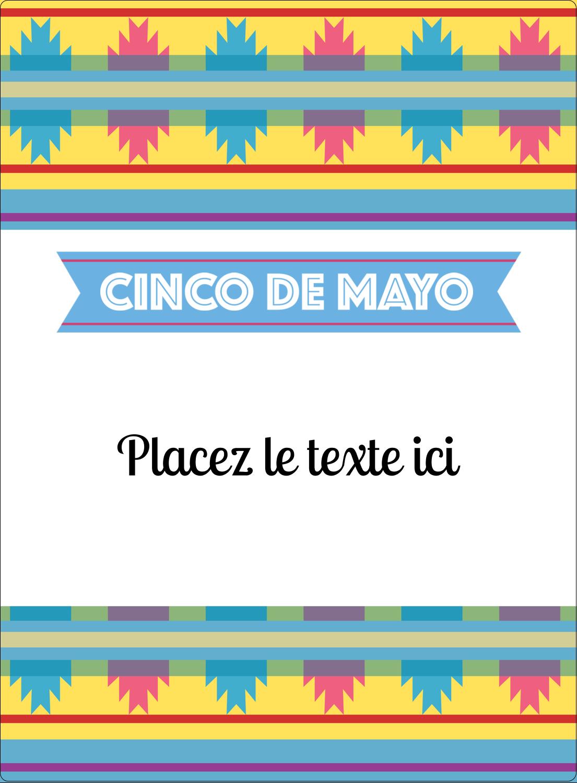 """2½"""" Diameter Étiquettes rondes - Serape de Cinco de Mayo"""