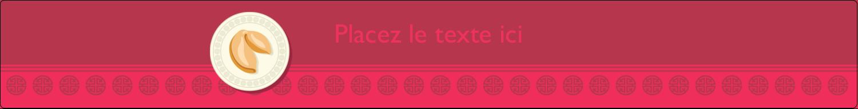 """1½"""" x 2½"""" Étiquettes ovales - Nouvel An chinois avec biscuit"""