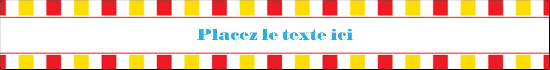 """1½"""" x 2½"""" Étiquettes ovales - Chapiteau de cirque"""