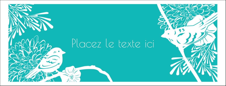 """1-7/16"""" x 3¾"""" Affichette - Signes du printemps"""