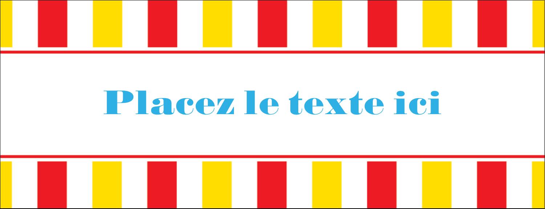 """1-7/16"""" x 3¾"""" Affichette - Chapiteau de cirque"""