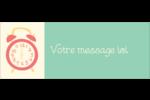 Horloges Étiquettes D'Adresse - gabarit prédéfini. <br/>Utilisez notre logiciel Avery Design & Print Online pour personnaliser facilement la conception.