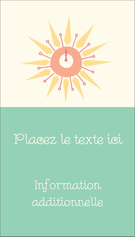 """2"""" x 3½"""" Carte d'affaire - Horloges"""