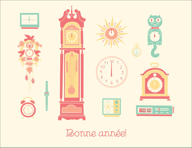 "4¼"" X 5½"" Carte Postale - Horloges"