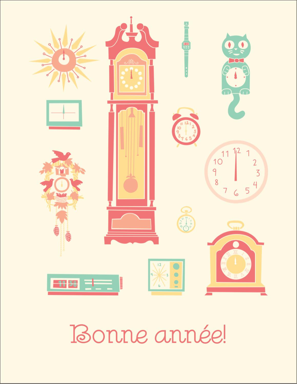 "5½"" x 4¼"" Carte Postale - Horloges"
