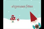 Lutin de Noël Carte Postale - gabarit prédéfini. <br/>Utilisez notre logiciel Avery Design & Print Online pour personnaliser facilement la conception.