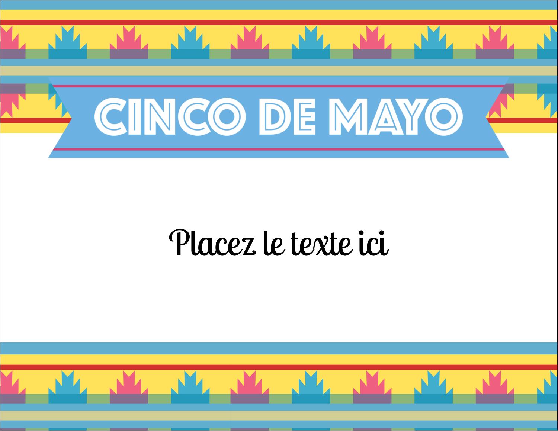 """4¼"""" X 5½"""" Carte Postale - Serape de Cinco de Mayo"""