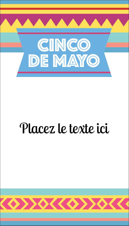 """3½"""" x 2"""" Carte d'affaire - Serape de Cinco de Mayo"""