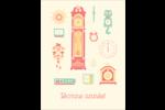 Horloges Carte Postale - gabarit prédéfini. <br/>Utilisez notre logiciel Avery Design & Print Online pour personnaliser facilement la conception.