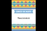 Serape de Cinco de Mayo Carte Postale - gabarit prédéfini. <br/>Utilisez notre logiciel Avery Design & Print Online pour personnaliser facilement la conception.