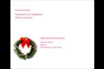 Couronne de Noël Étiquettes d'expédition - gabarit prédéfini. <br/>Utilisez notre logiciel Avery Design & Print Online pour personnaliser facilement la conception.