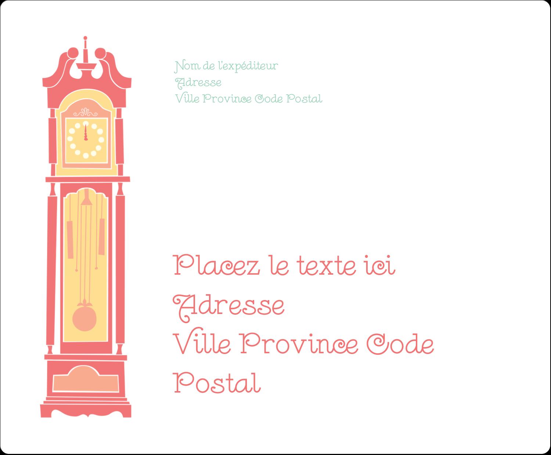 """3⅓"""" x 4"""" Étiquettes d'expédition - Horloges"""