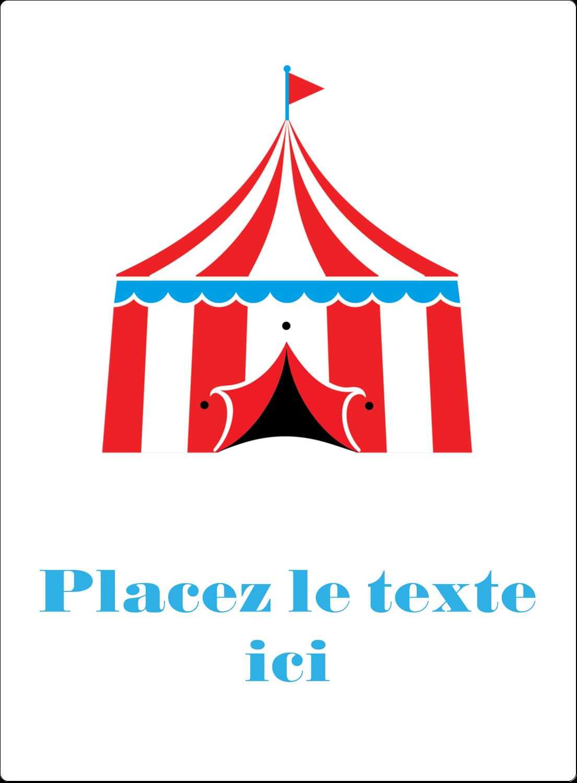 """2½"""" Diameter Étiquettes rondes - Chapiteau de cirque"""