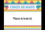 Serape de Cinco de Mayo Étiquettes rondes gaufrées - gabarit prédéfini. <br/>Utilisez notre logiciel Avery Design & Print Online pour personnaliser facilement la conception.